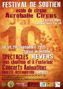Acroballe circus à Nevers