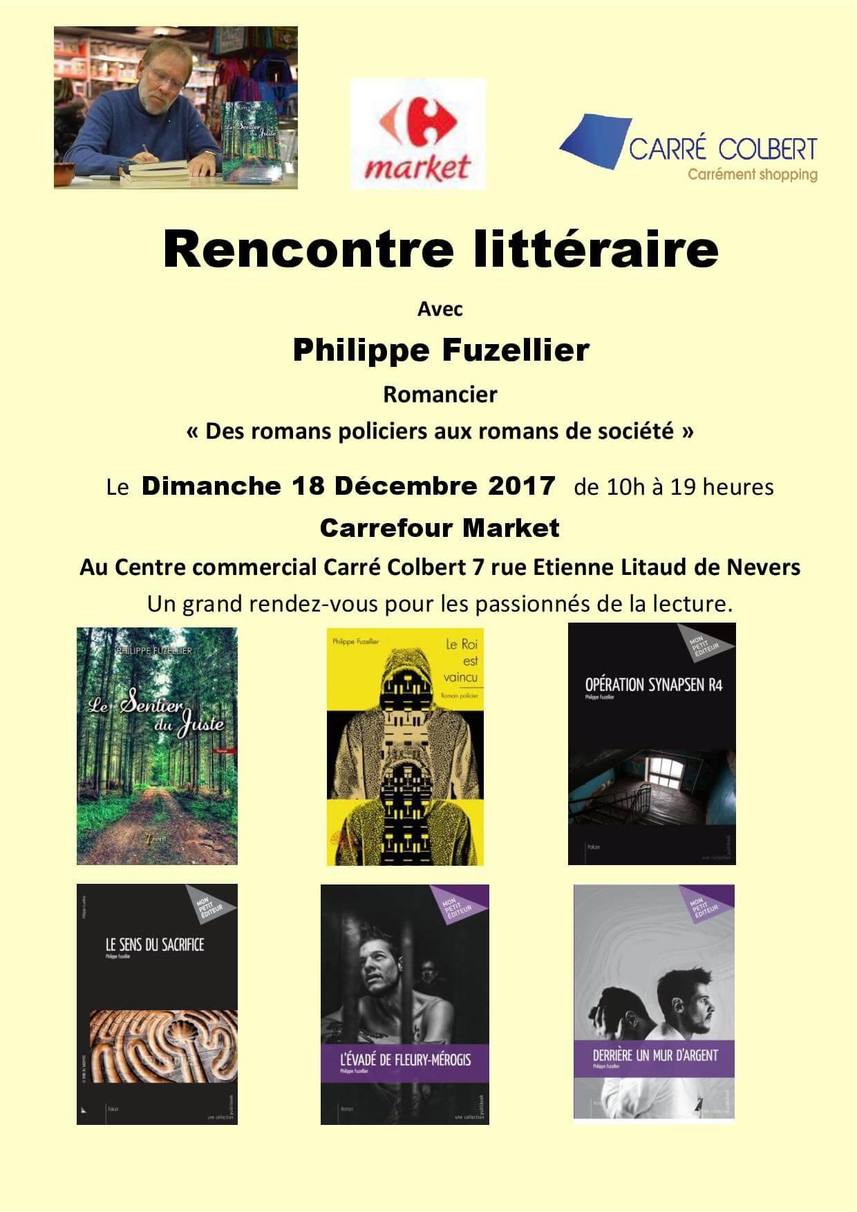 Rencontre littéraire Carrefour Market Nevers