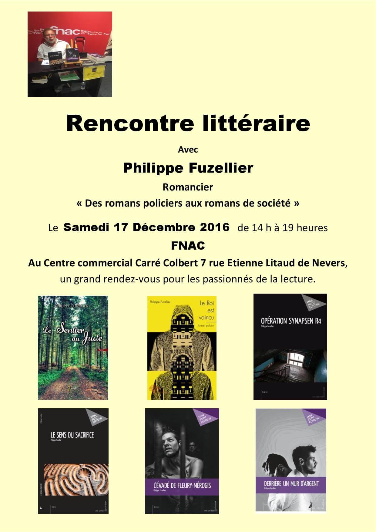 Rencontre littéraire FNAC Nevers