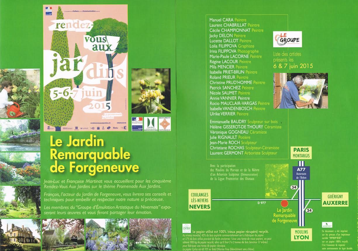 rendez vous des arts aux jardin de Forgeneuve à Coulanges les Nevers