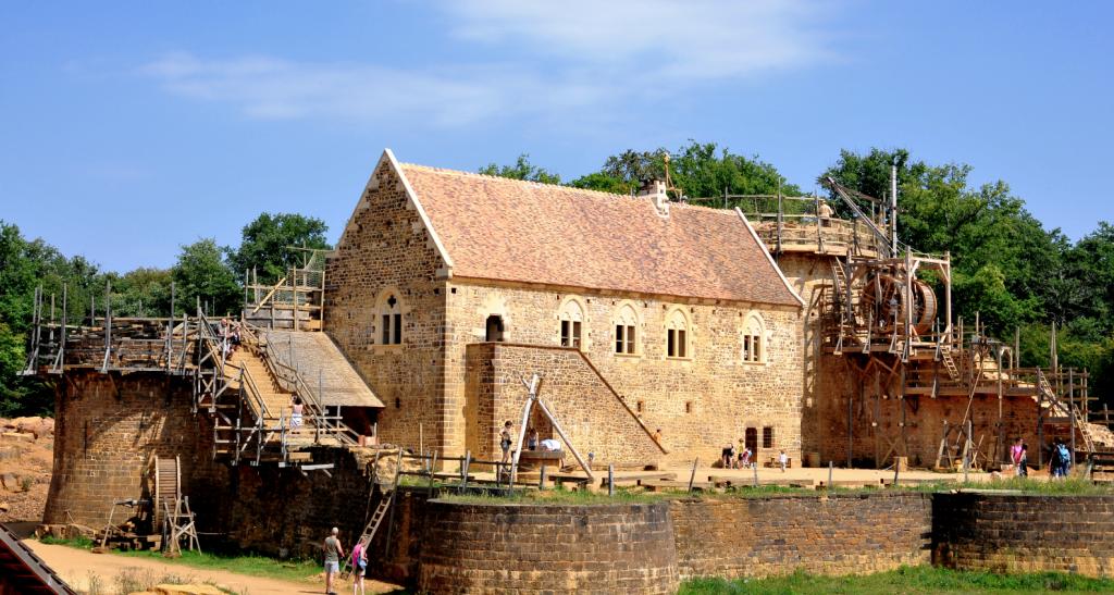 Chantier du château de Guédelon