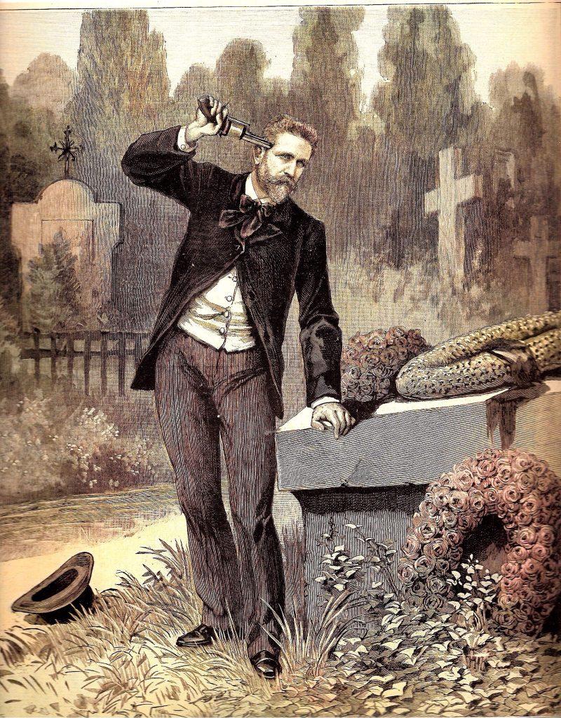 Suicide du général Boulanger après le 2 décembre 1888