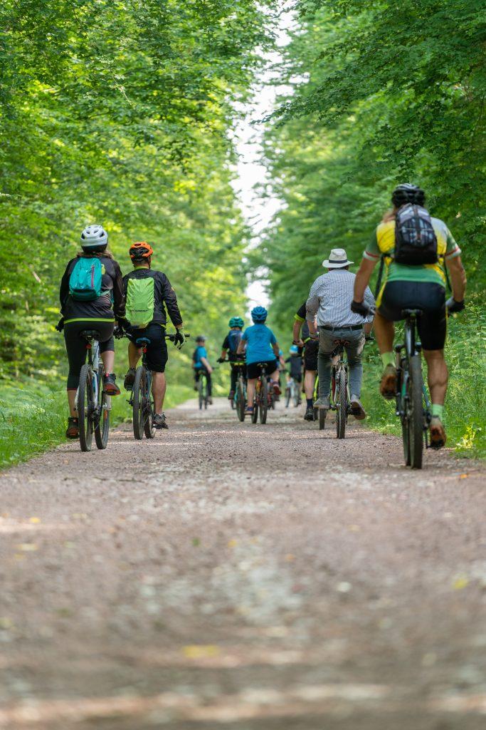 Le groupe de cyclistes