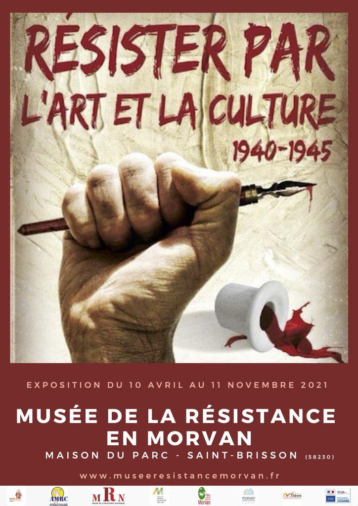 Affiche de l'exposition Résister par l'Art et la Culture 1940-1945